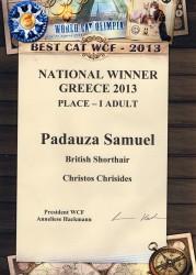 National Winner 2013, Double Master, European Ch.Padauza Samueln
